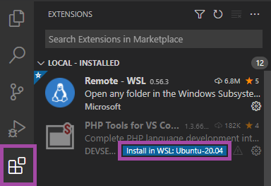 PHP Tools in WSL