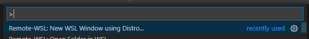 New WSL Windows using Distro