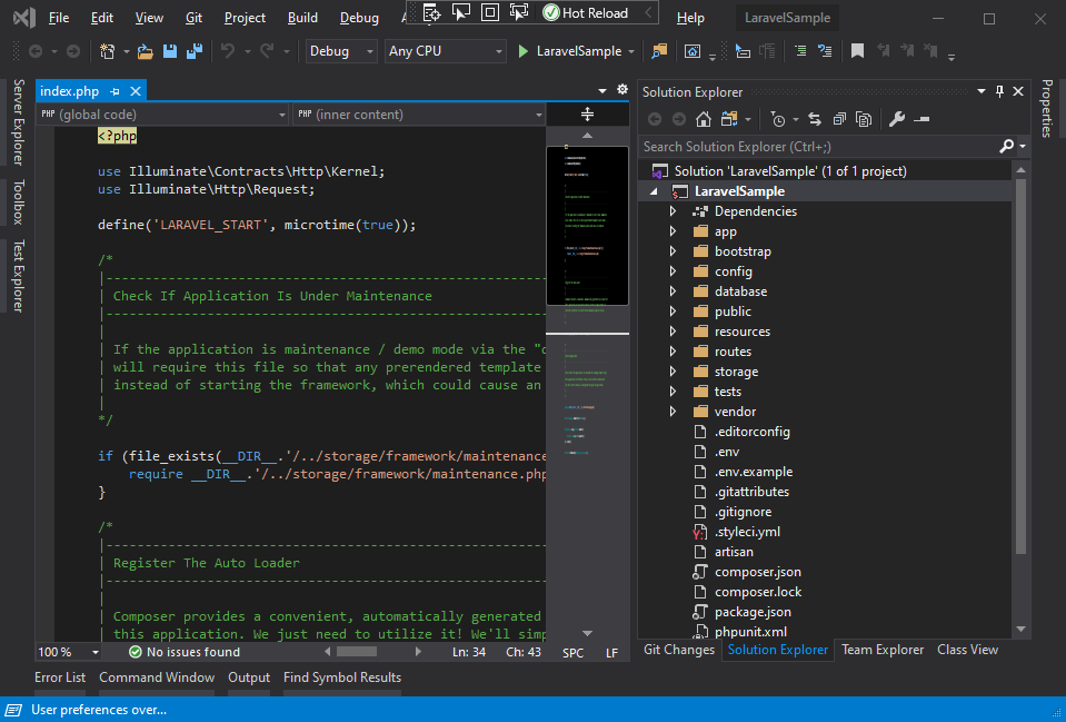 Laravel in Visual Studio