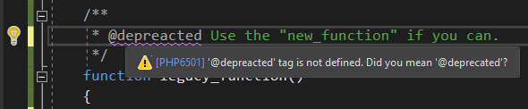 new PHP code suggestions