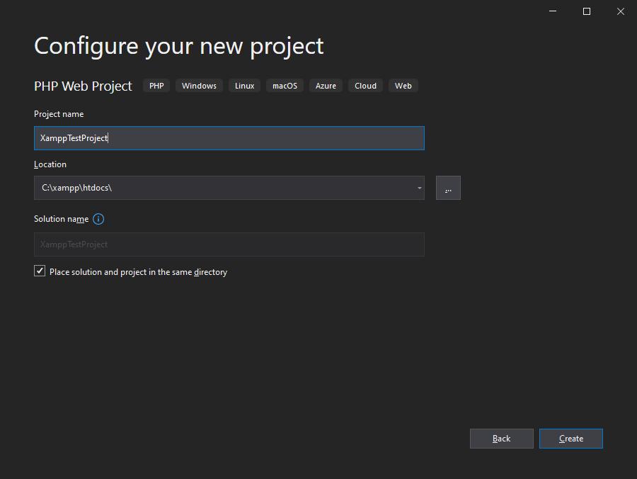 Visual Studio 2019 Configure New Project