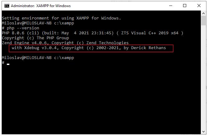 XAMPP with Xdebug