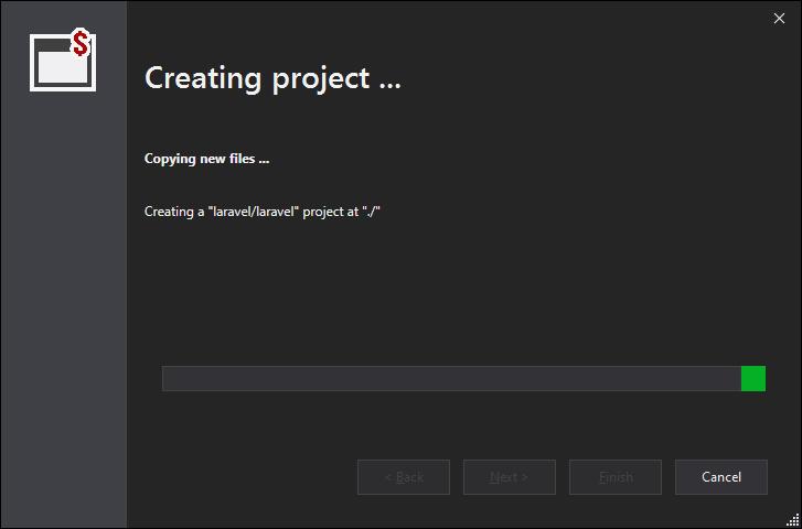 new laravel project creation