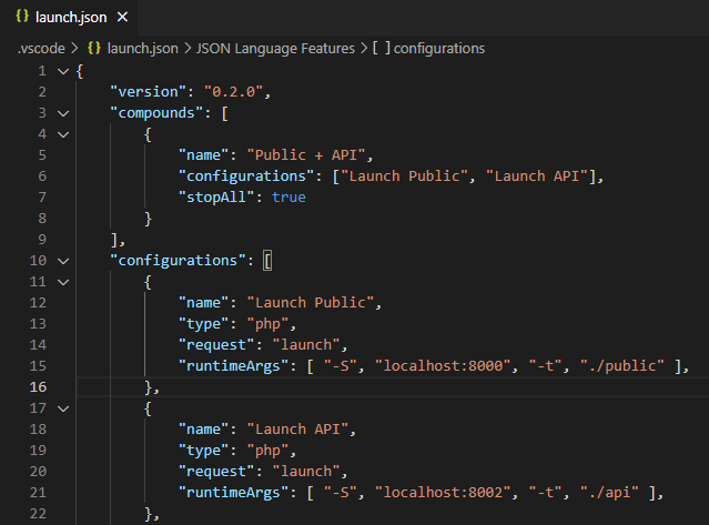 VS Code Compound Launch Configuration