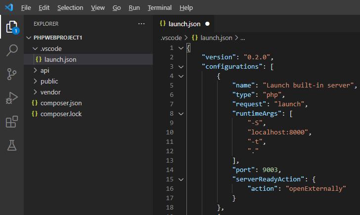 default launch.json