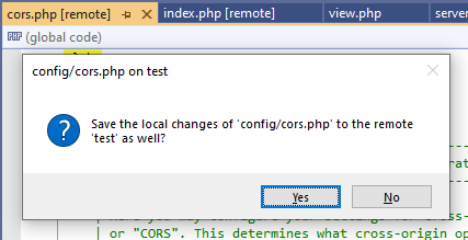 remote file tab