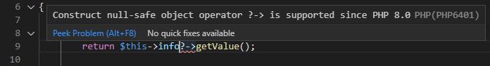 php 8.0 in vs code
